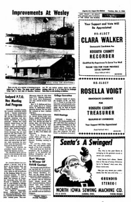 The Algona Upper Des Moines from Algona, Iowa on November 8, 1966 · Page 11