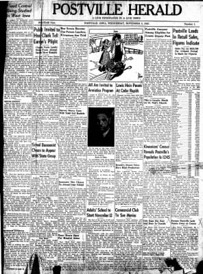 Postville Herald from Postville, Iowa on November 5, 1947 · Page 1
