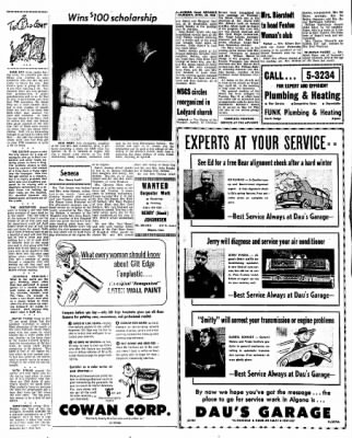 Kossuth County Advance from Algona, Iowa on April 29, 1965 · Page 16