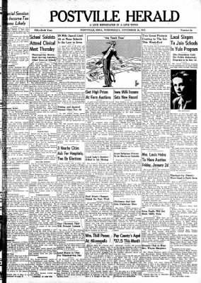 Postville Herald from Postville, Iowa on November 26, 1947 · Page 1