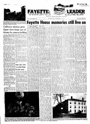Fayette County Leader from Fayette, Iowa on July 13, 1961 · Page 1