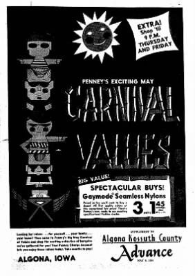 Kossuth County Advance from Algona, Iowa on May 3, 1965 · Page 9