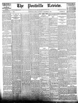 The Postville Review from Postville, Iowa on December 5, 1891 · Page 1