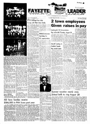 Fayette County Leader from Fayette, Iowa on August 10, 1961 · Page 1