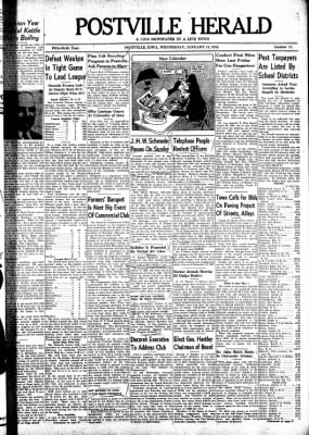 Postville Herald from Postville, Iowa on January 14, 1948 · Page 1