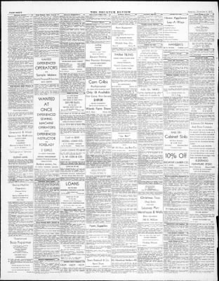 The Decatur Daily Review From Decatur Illinois On November 8 1947