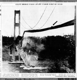 Tacoma Narrows Bridge collapses