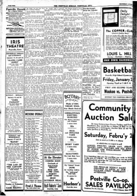 Postville Herald from Postville, Iowa on January 21, 1948 · Page 4