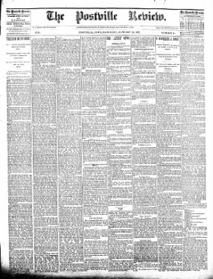 The Postville Review from Postville, Iowa on January 23, 1892 · Page 1