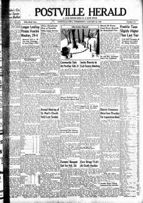 Postville Herald from Postville, Iowa on January 28, 1948 · Page 1