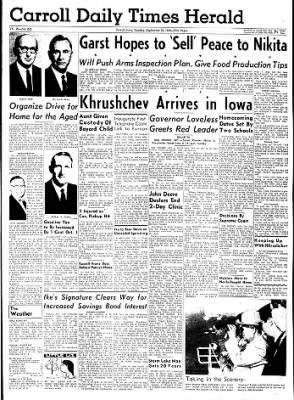 Carrol Daily Times Herald from Carroll, Iowa on September 22, 1959 · Page 1