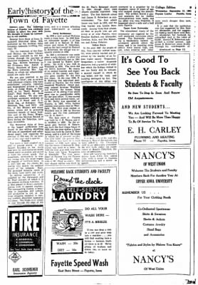 Fayette County Leader from Fayette, Iowa on September 13, 1961 · Page 11