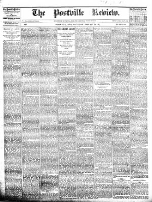 The Postville Review from Postville, Iowa on January 30, 1892 · Page 1