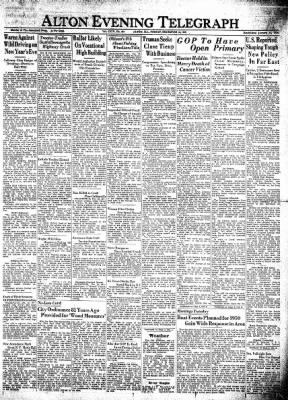 Alton Evening Telegraph from Alton, Illinois on December 30, 1949 · Page 1
