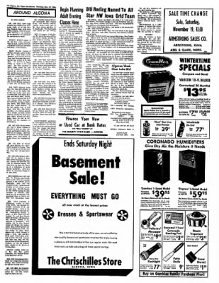 The Algona Upper Des Moines from Algona, Iowa on November 17, 1966 · Page 11