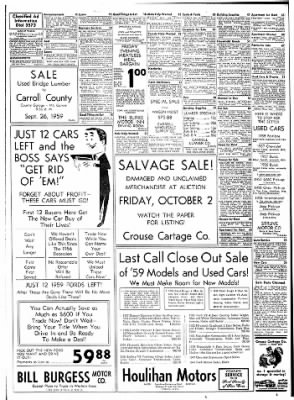 Carrol Daily Times Herald from Carroll, Iowa on September 24, 1959 · Page 9