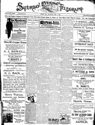 Alton Evening Telegraph from Alton, Illinois on December 17, 1898 · Page 1