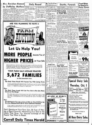 Carrol Daily Times Herald from Carroll, Iowa on September 25, 1959 · Page 8
