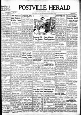 Postville Herald from Postville, Iowa on March 31, 1948 · Page 1