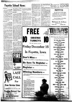 Fayette County Leader from Fayette, Iowa on December 7, 1961 · Page 4
