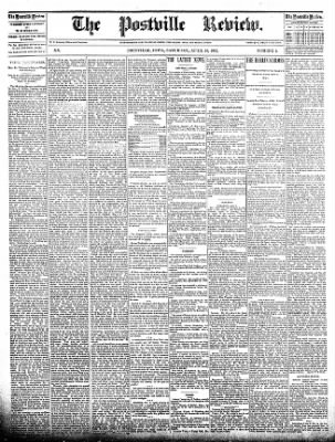 The Postville Review from Postville, Iowa on April 16, 1892 · Page 1