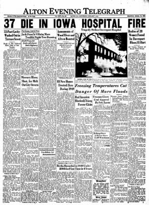 Alton Evening Telegraph from Alton, Illinois on January 7, 1950 · Page 1