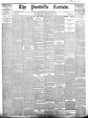The Postville Review from Postville, Iowa on May 28, 1892 · Page 1
