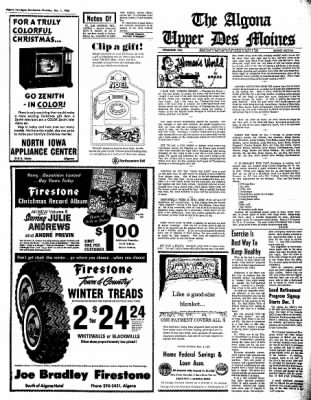 The Algona Upper Des Moines from Algona, Iowa on December 1, 1966 · Page 10