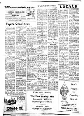 Fayette County Leader from Fayette, Iowa on February 15, 1962 · Page 2