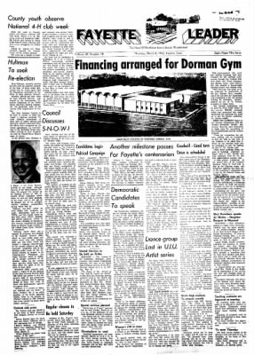 Fayette County Leader from Fayette, Iowa on March 8, 1962 · Page 1