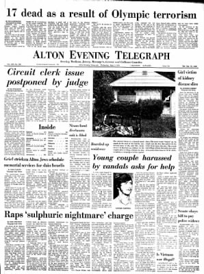 Alton Evening Telegraph from Alton, Illinois on September 6, 1972 · Page 1