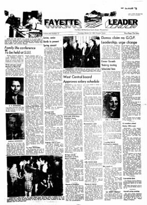Fayette County Leader from Fayette, Iowa on March 22, 1962 · Page 1
