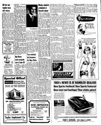 Kossuth County Advance from Algona, Iowa on May 27, 1965 · Page 9