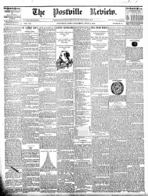 The Postville Review from Postville, Iowa on July 2, 1892 · Page 1