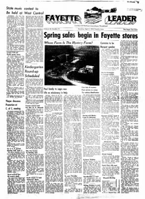 Fayette County Leader from Fayette, Iowa on April 5, 1962 · Page 1