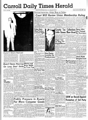 Carrol Daily Times Herald from Carroll, Iowa on October 12, 1959 · Page 1