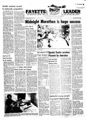 Fayette County Leader from Fayette, Iowa on April 19, 1962 · Page 1
