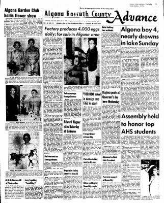 Kossuth County Advance from Algona, Iowa on May 31, 1965 · Page 1