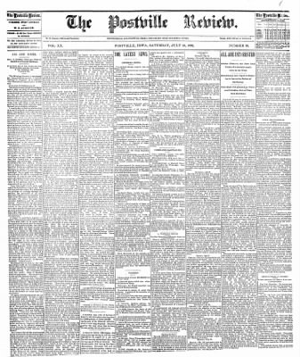 The Postville Review from Postville, Iowa on July 23, 1892 · Page 1