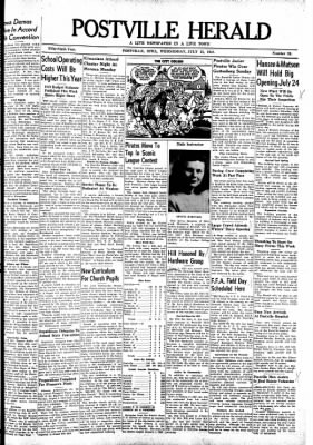 Postville Herald from Postville, Iowa on July 21, 1948 · Page 1