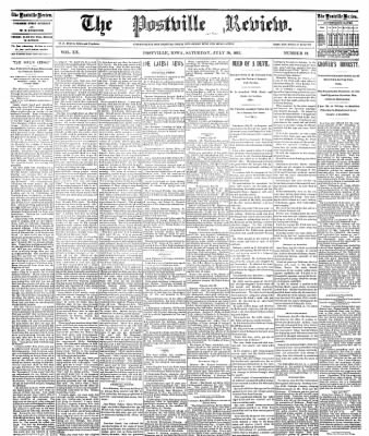 The Postville Review from Postville, Iowa on July 30, 1892 · Page 1