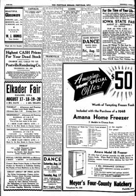 Postville Herald from Postville, Iowa on August 11, 1948 · Page 6