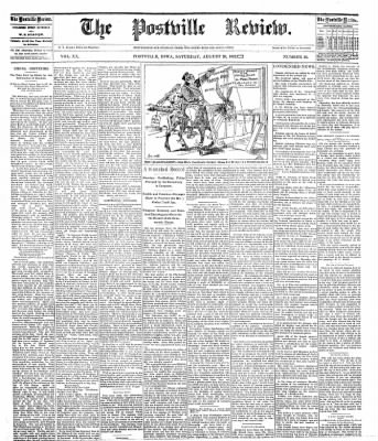 The Postville Review from Postville, Iowa on August 20, 1892 · Page 1