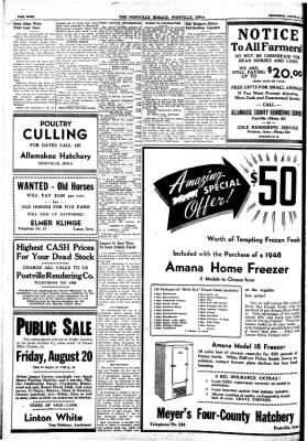 Postville Herald from Postville, Iowa on August 18, 1948 · Page 8