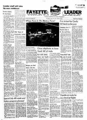 Fayette County Leader from Fayette, Iowa on June 28, 1962 · Page 1