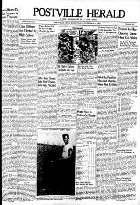 Postville Herald from Postville, Iowa on September 8, 1948 · Page 1