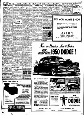 Alton Evening Telegraph from Alton, Illinois on January 17, 1950 · Page 20