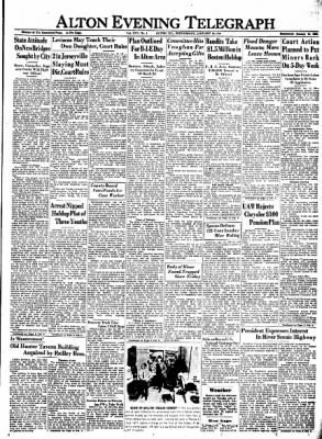 Alton Evening Telegraph from Alton, Illinois on January 18, 1950 · Page 1