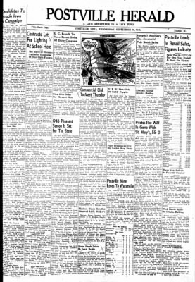 Postville Herald from Postville, Iowa on September 15, 1948 · Page 1