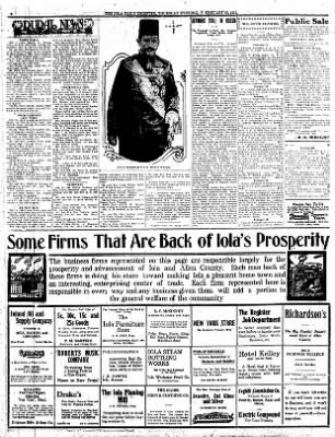 Iola Daily Register And Evening News from Iola, Kansas on February 25, 1915 · Page 6